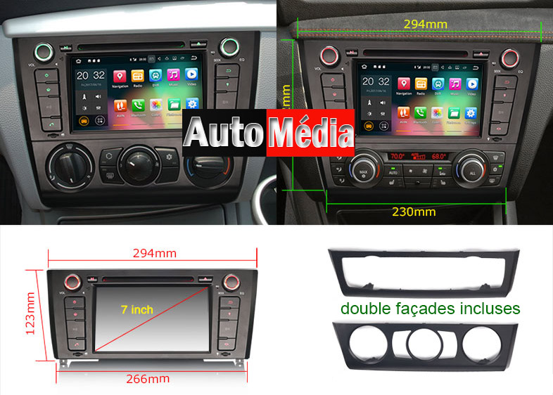 autoradio android 7 1 cran tactile dvd gps bmw serie 3 auto. Black Bedroom Furniture Sets. Home Design Ideas