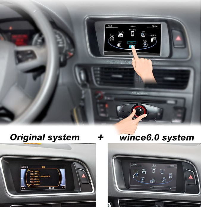 autoradio tactile pour audi q5 a5 et a4 gps auto m dia. Black Bedroom Furniture Sets. Home Design Ideas