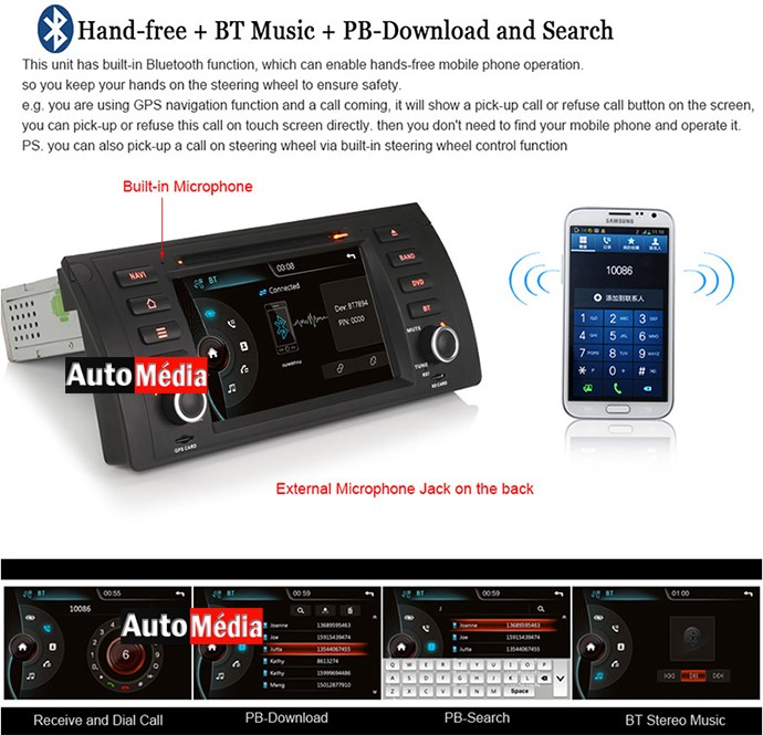 autoradio gps dvd bmw s rie 5 e39 et bmw x5 e53 auto m dia. Black Bedroom Furniture Sets. Home Design Ideas