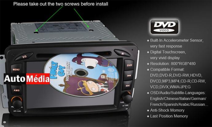 autoradio gps dvd mercedes classe a e c g ml clk slk et vito viano auto media. Black Bedroom Furniture Sets. Home Design Ideas