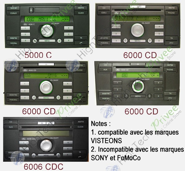 Interfaces cl s usb mp3 ford boitier ipod iphone entr e auxiliaire hightech privee com