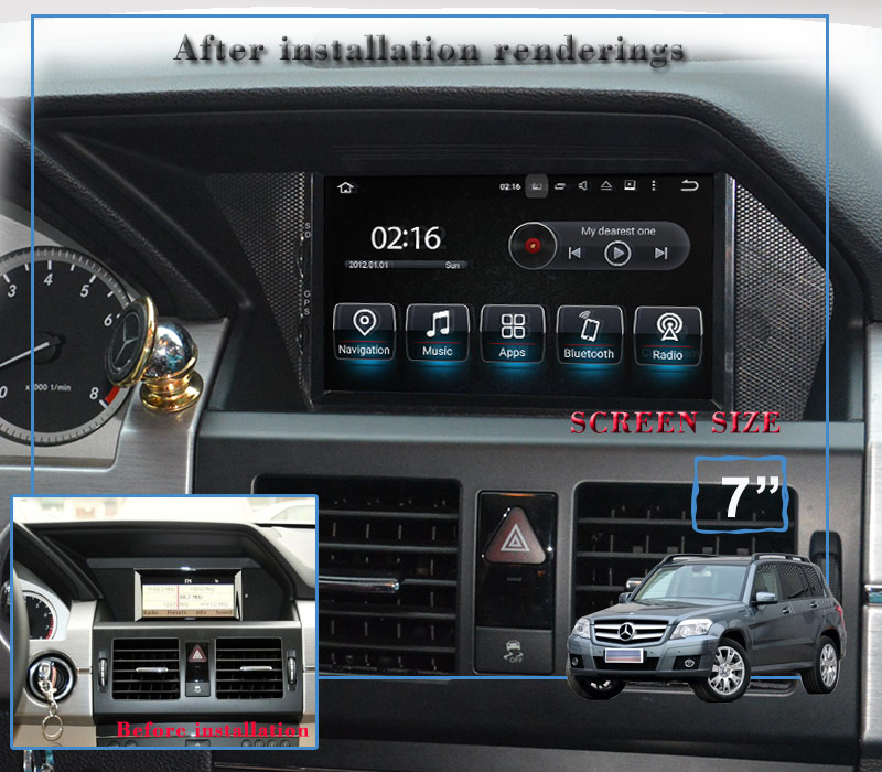 autoradio cran tactile android dvd gps mercedes glk x204. Black Bedroom Furniture Sets. Home Design Ideas