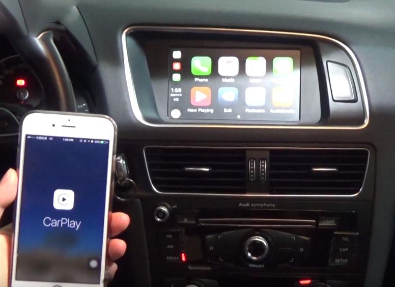 Apple CarPlay sur votre Audi A3 A4 A5 A6 A7 Q5 Q7 avec MMI3G et MIB