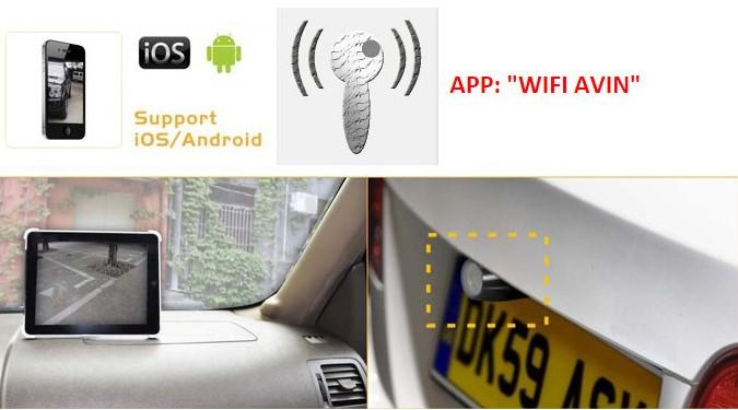 transmetteur wifi cam ra de recul pour iphone et smartphone et autoradio android. Black Bedroom Furniture Sets. Home Design Ideas
