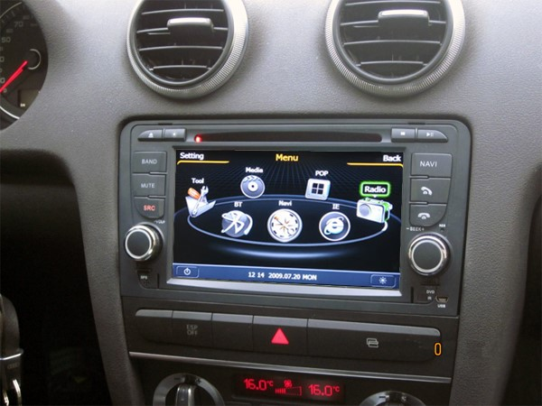 poste audi a3 autoradio gps dvd usb audi bluetooth. Black Bedroom Furniture Sets. Home Design Ideas