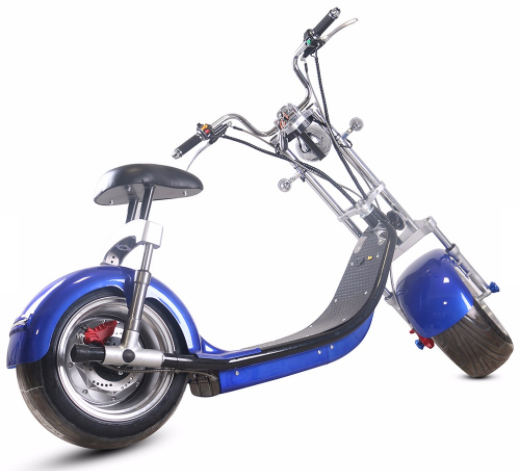 scooter lectrique type harley bleu homologu route. Black Bedroom Furniture Sets. Home Design Ideas