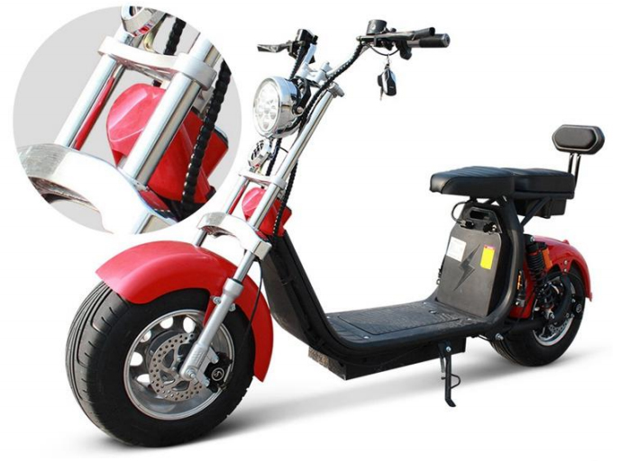 scooter lectrique rouge batterie amovible avec carte grise fr azur scooter. Black Bedroom Furniture Sets. Home Design Ideas