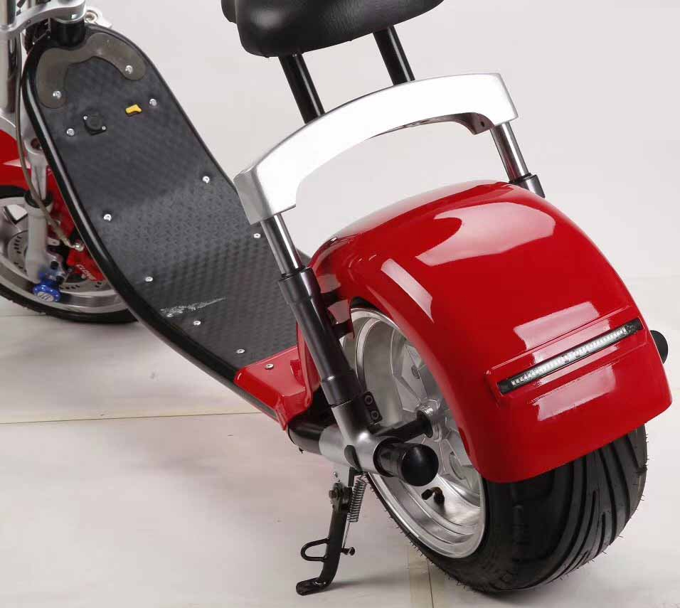 commander votre scooter lectrique type chopper rouge. Black Bedroom Furniture Sets. Home Design Ideas