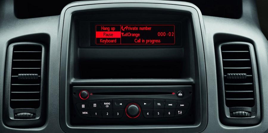 Autoradio Façade dautoradio double DIN pour Opel Vivaro Nissan Primastar à partir de 2011 noir Renault Trafic